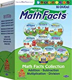 Meet the Math Facts 10 DVD set - addition, subtraction, multiplication & division (includes bonus digital book)