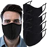 Face Protections 3-Ply Extra Large Reusable for Men Adults, Fully Machine Washable, Breathable Cloth Nose Mouth Dustproof Protection with Adjustable Ear Loops (X-Large)