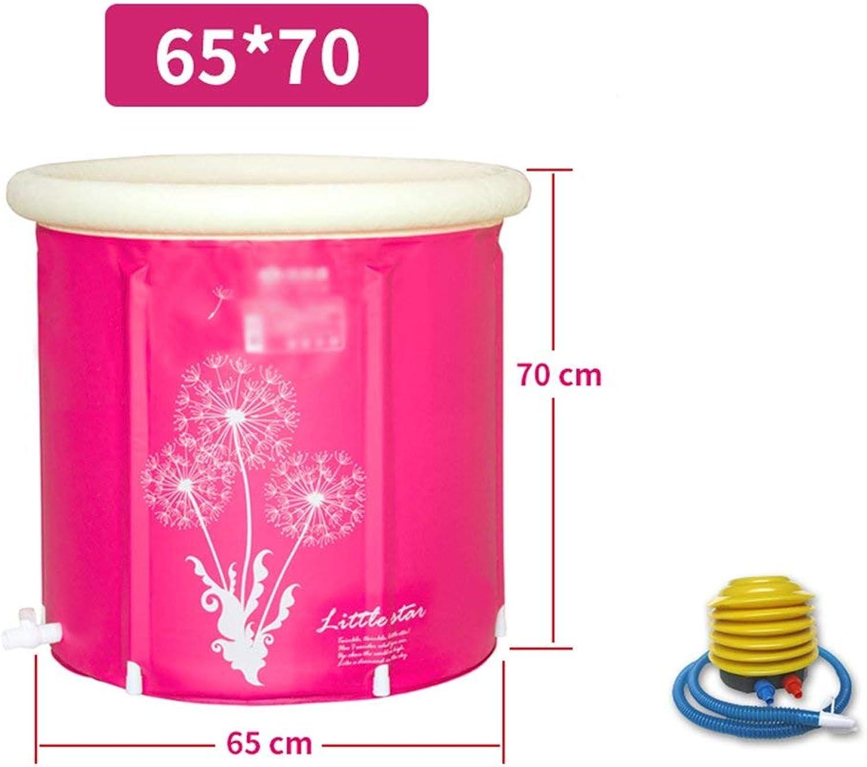 EUNADINAWENHUA Aufblasbare Badewanne Verdickungsisolierung faltender Erwachsener Tub65  70cm186 Luftbder für Wohnzimmer (Farbe   No Cover, Gre   65  70cm)