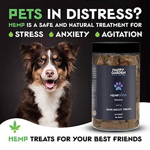 Product Image 4: Happy Garden New Hemp Biscuit Treats For Dogs – Reducing Anxiety & Aggressive Behaviour – Result of Storms, Fireworks & Abandonment 200mg