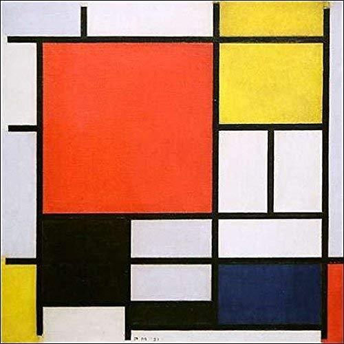 Keilrahmen-Bild - Piet Mondrian: Composition with Lines and Colors 80 x 80 cm Leinwandbild