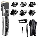 USB recargable Hair Trimmer inalámbrico Hair Clipper afeitadora Trimmer hombres peluquero máquina de corte de pelo 0mm