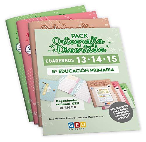 Pack Ortografía Divertida 5º primaria: Cuadernos 13, 14 y 15   Material De Refuerzo Actividades sencillas   Editorial Geu (Niños de 10 a 11 años)