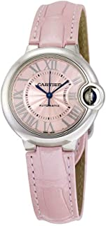 Cartier Ballon Bleu WSBB0002 Stainless Steel & Alligator Leather Automatic Ladies Watch