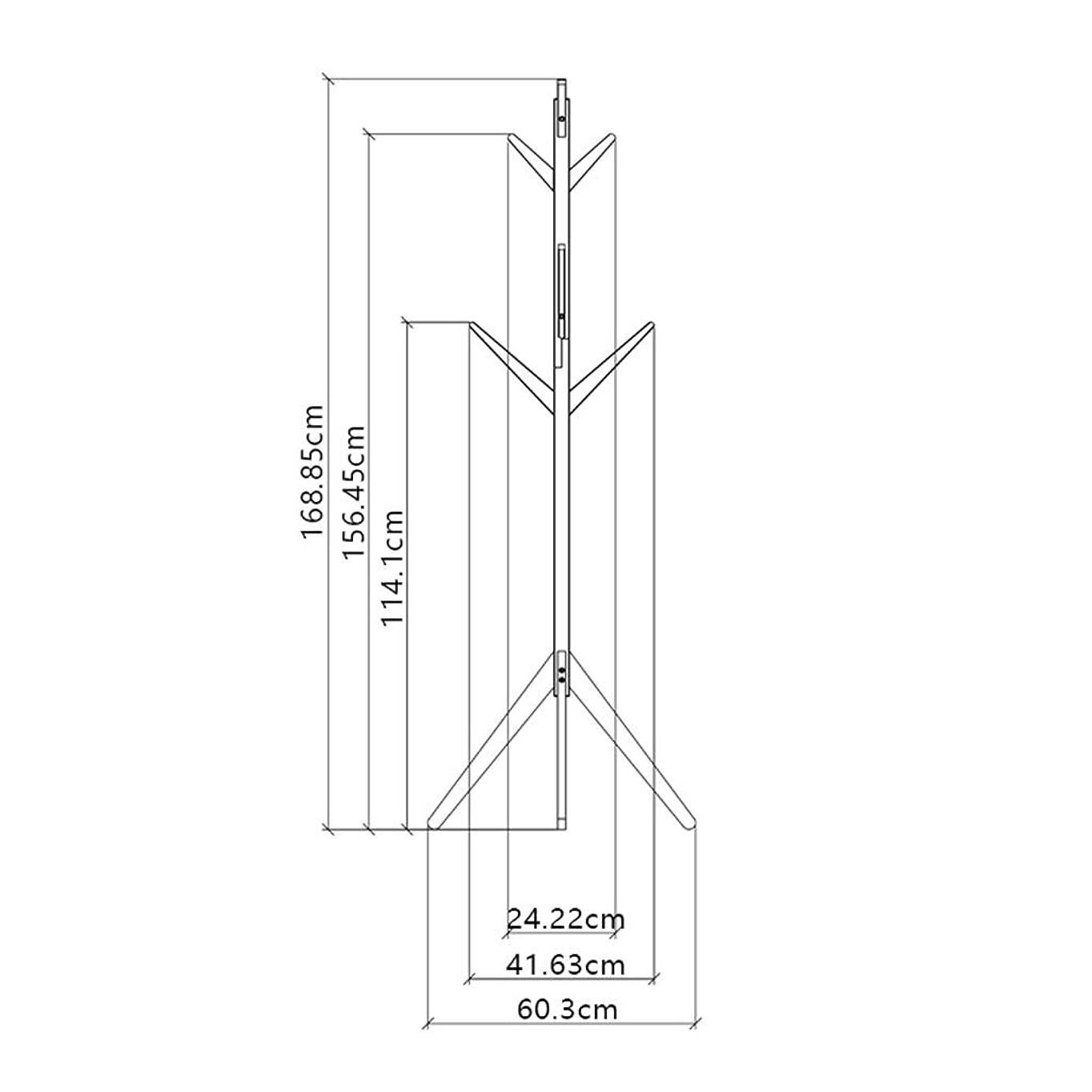 ありふれた原子炉閲覧するSN 木製コートラック 三脚サポート 高級スタンド 8フック アセンブリ 必須 フリースタンディング コートスタンド 廊下コート ハンガーハットスタンド ? ハンドバッグ用 (Color : A)