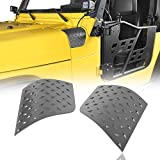 Hooke Road TJ Cowl Body Armor Cowling Cover Corner Guards Matte Black for Jeep Wrangler TJ 1997-2006