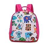 バックパック防水| ボーイズ・ガールズプライマリースクールバッグ印刷小アニマル柄ラブリー ファッション、動物園の子かわいいバックパック
