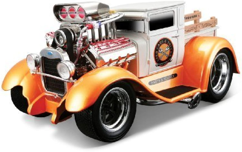 Maisto 32201 1 18 Scale Ford Model AA 29 Model Car (Metallic Weiß Orange) by Maisto
