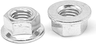 M8 x 1.25 Coarse Thread DIN 6923 Hex Flange Nut with Serration Stainless Steel 18-8 Pk 100