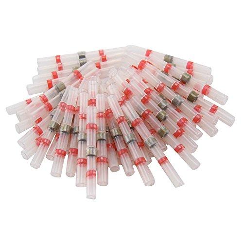 Asseny Lötverbinder mit Schrumpfschlauch, isoliert, 0,5–1,0 mm, 50 Stück