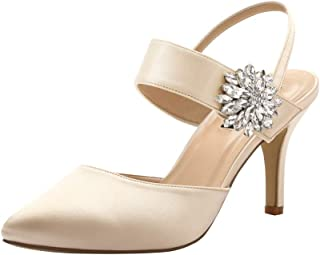 ERIJUNOR Mid Heel Shoes for Women Pointed Toe Slingback...