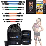 Kinetic Bands Dance Leg Resistance Bands and Flexibility Strap Training Kit – Ballet Dancer Body Conditioning, Strength, Endurance – Digital Training Download