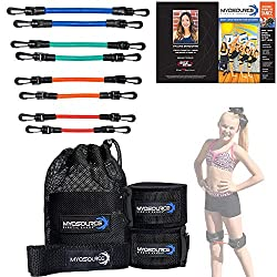 Kinetic Bands Dance Leg Resistance Bands and Flexibility Strap Training Kit