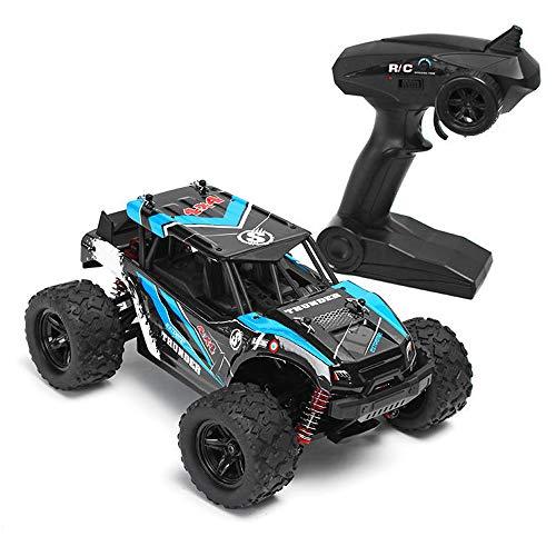 JMFHCD Macchina Auto Telecomandata RC Auto 1/18 4WD Ad Alta velocità Scalatore Crawler Telecomando 2.4G Protezione ad Alta Temperatura con Roll-Bar è Un Bel Regalo per i Bambini,Blu