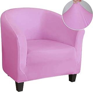 WINS Funda de Sillón Chesterfield Elástica Funda de Sofa 1 Plaza Tub Chair Cover Funda para sillón Club Fundas tullsta Silla de cóctel Lavable Rosado