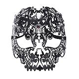 FKLMRKL Máscara de Diamante de Metal, máscara de Hierro de Disfraces de Halloween, máscara de...