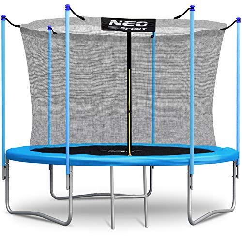 Neo-Sport Trampolin 183 cm 6 ft mit Sicherheitsnetz Innennetz und Einstiegsleiter PRO Gartentrampolin