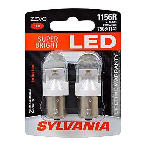 SYLVANIA ZEVO 1156 Red LED Bulb, (Contains 2 Bulbs)