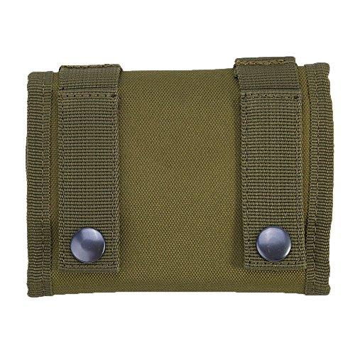 Caja De Cartucho De Rifle De Cáscara Redondo Caja De La Bolsa De La Bolsa De La Bolsa De Munición De Nylon, Verde del Ejército