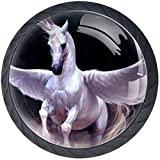 White Pegasus (4-Pack) Round Door Cabinets Knobs,Modern Dresser/Drawer/Cupboard Knobs and Handles,Durable