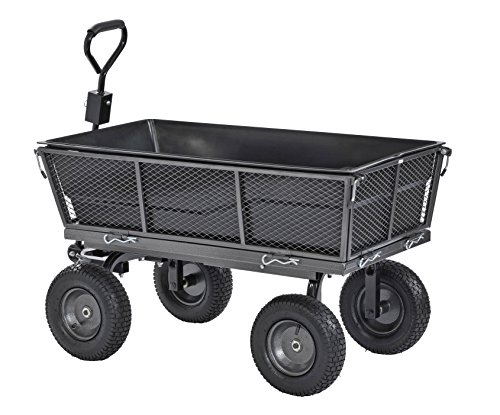 "Sandusky Lee CW5024 Muscle Carts Steel Dump Cart with Removable Sides and Full Bed Liner/Cover with A Capacity of 1200 lb, Silver Vein , 26.5"" Height, 25"" width, 48"" Length, 1200 Pounds Load Capacity"