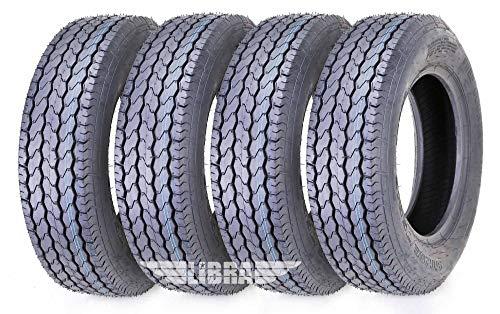 4 Premium Free Country Trailer Tires ST 205/75D14 F78-14 Load Range C Deep Tread - 11020 …