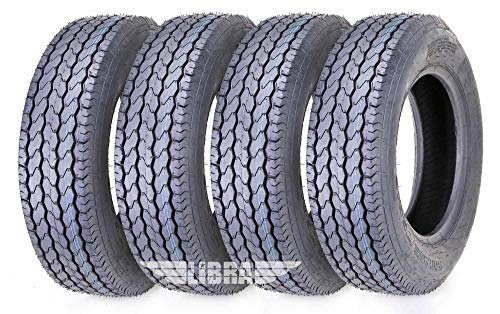 4 Premium Free Country Trailer Tires ST 205/75D14 F78-14 Load Range C Deep Tread - 11020 …
