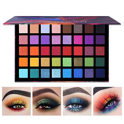 Halsey99 Eye Shadow Disk-Spotlight 40 Farben Lidschatten-Palette Shimmer Glitter Matte Pulver...