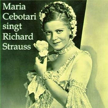 Maria Cebotari singt Richard Strauss