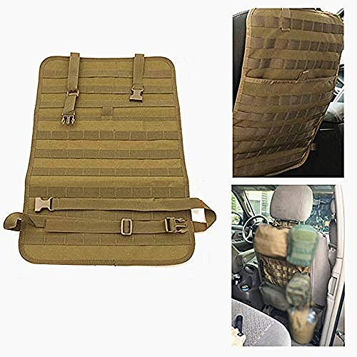 FIRECLUB Car Seat Back Organizer, Tactical MOLLE Vehicle Panel Car Seat Cover Protector Universal Fit