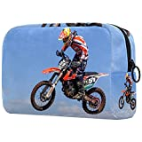 Neceser Neceser Cosméticos Bolsa de Viaje con Cremallera Bolsa de Embalaje Pequeña Bolsa de Cosméticos para Mujeres y Hombres (Estilo Multicolor) Motocross 15