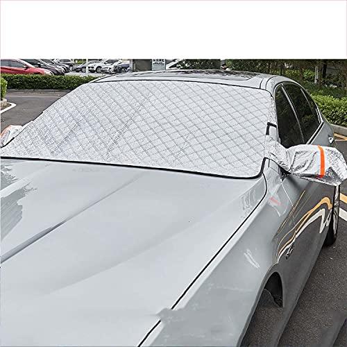 NUIOsdz Parasol de coche, paño de aluminio, visera de nieve, cubierta del parabrisas delantero, para Skoda Fabia Octavia Superb Spaceback Yeti Kodiaq