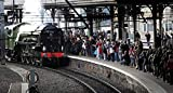 Steam locomotive Tornado arrives at Newcastle Central