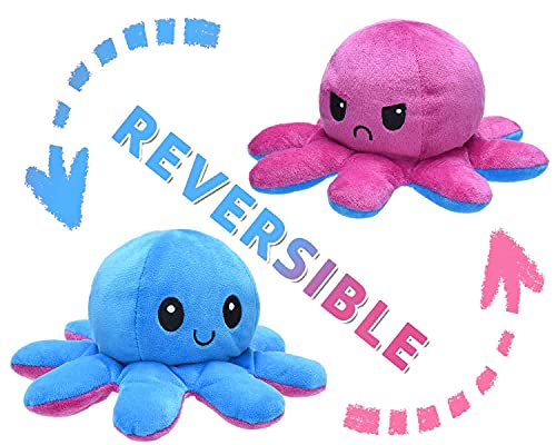 Octopus Plüsch Spielzeug Wende-Plüschtier Doppelseitige Flip Doll Mood Plüschtiere als Geschenk für Kinder