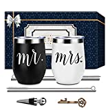 Mr and Mrs Wedding Gifts Wine Tumble, Engagement...