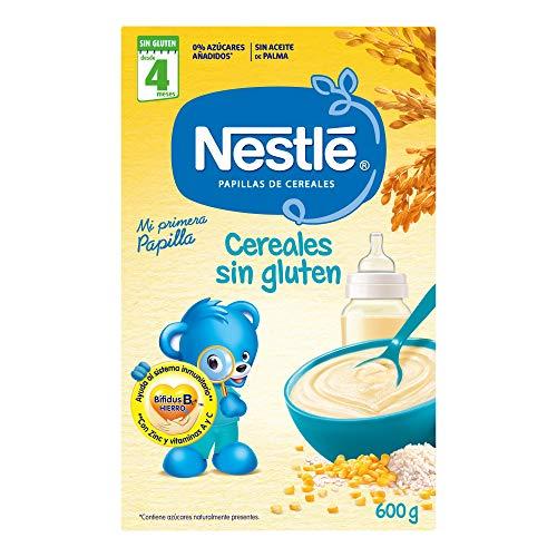 NESTLÉ Papilla Cereales Sin gluten - Alimento Para bebés - Paquete de 600g