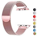 Tervoka Ersatzarmband kompatibel mit Apple Watch 40mm 38mm | Edelstahl Armband | Smartwatch Ersatzarmbänder mit Magnet kompatibel mit iWatch Series 5/4/3/2/1 Rose Gold
