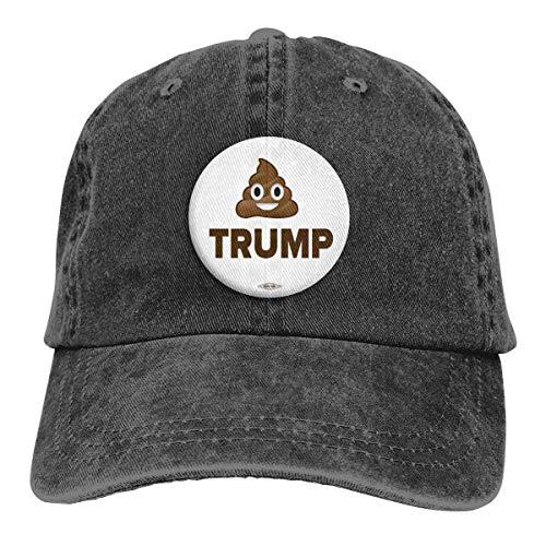 Yuanmeiju Gorra de Mezclilla Trump Unisex Vintage Washed Distressed Baseball Cap Twill Adjustable Dad Hat