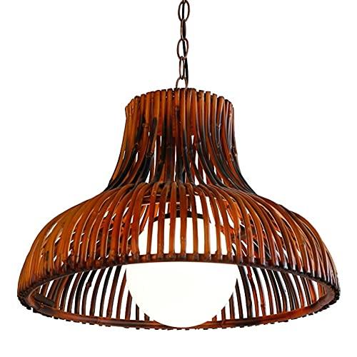 Linterna colgante boscosa Linterna Linterna Linterna E27 Retro Lámpara de techo Lámpara de techo Leche de bambú Milda Blancanito Restaurante Europeo Estilo Rural Aisle Entrada Mesa de comedor Araña De