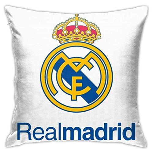 Couch Cushions Real Madrid Logo PNG HD Fundas De Almohada con Cremallera Funda De Almohada Regalo Fundas De Cojín Decorativas Duraderas Bastante Personalizadas 45X45Cm para Hotel