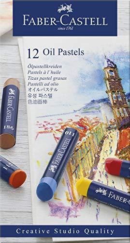 Faber-Castell Creative Studio Oil Pastel Crayons – 12 Vibrant Colors