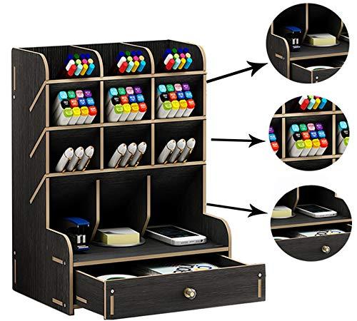 Catekro Büro Aufbewahrungsbox Große Kapazität Multifunktions Bürobedarf Schreibwaren Aufbewahrungsbox Massivholz Stifthalter Für Schutt Regal