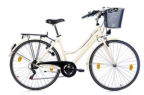 tretwerk DIREKT gute Räder Elysee 28 Zoll Citybike, Damen-Fahrrad mit praktischem Korb