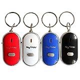 Pinzhi Whistle Sound Control Buscador de llaves LED Buscador Encuentra llaves perdidas Llavero Llavero