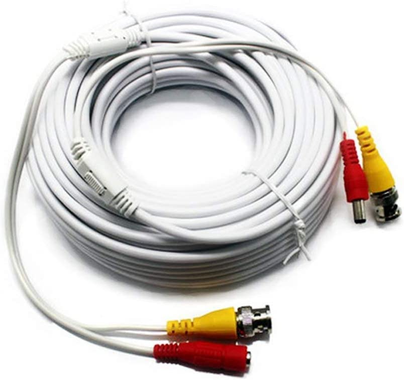 6-Pack, 25 Ft White Five Star Cable 25ft 4//6//8//10 RG59 18//2 Siamese Video Power Security Camera Extension Wires Cables Cords with BNC RCA Connectors Pre-Attached for CCTVHome Surveillance System
