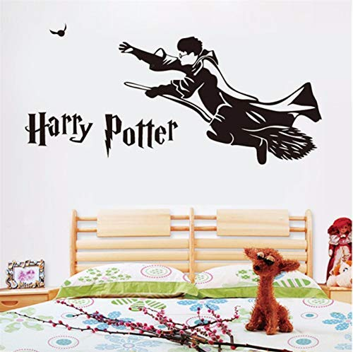 Harry Potter Vliegende bezem Vinyl Home decoratieve kunst muurschilderingen kinderkamer afneembare warmtekaart film Cartoon muursticker 58 * 124Cm