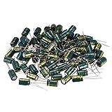 sourcing map Condensadores Electrol/íticos Radiales De Aluminio 10uF 400V Vida 10 X 13mm Negro 20Pcs
