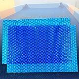 QIANDA Cobertor Piscina Cubierta De Invierno, Azul Burbuja Lona Alquitranada Recortable Prevenir El 95% De La Evaporación, Grueso 400um, Más Tamaños (Size : 404 x 201cm)