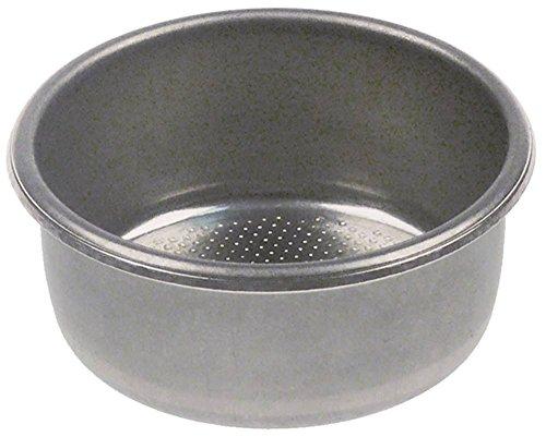 Koffiezeef voor espressomachine 2 kopjes ø 60 mm hoogte 25 mm inbouw ø 53,5 mm