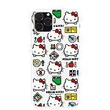 iPhone11 ケース [デザイン:14.おもちゃパターン/白ケース] サンリオ ハローキティ キティちゃん 14.おもちゃパターン ハード スマホケース カバー アイフォン11 ip11